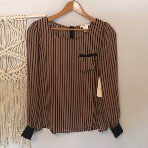 Sheer Striped Blouse